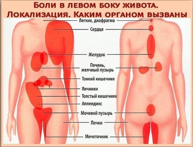 Из-за чего болит левый бок при ходьбе